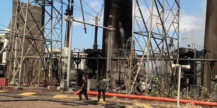 Immagini centrale elettrica incendiata che generò blackout in Venezuela