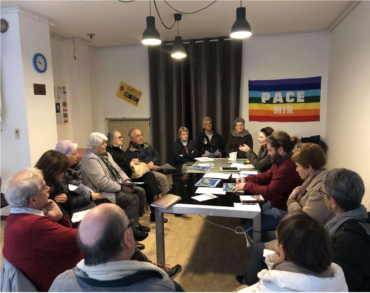1° Incontro regionale per la 2a Marcia mondiale per la pace e la nonviolenza 2019-'20
