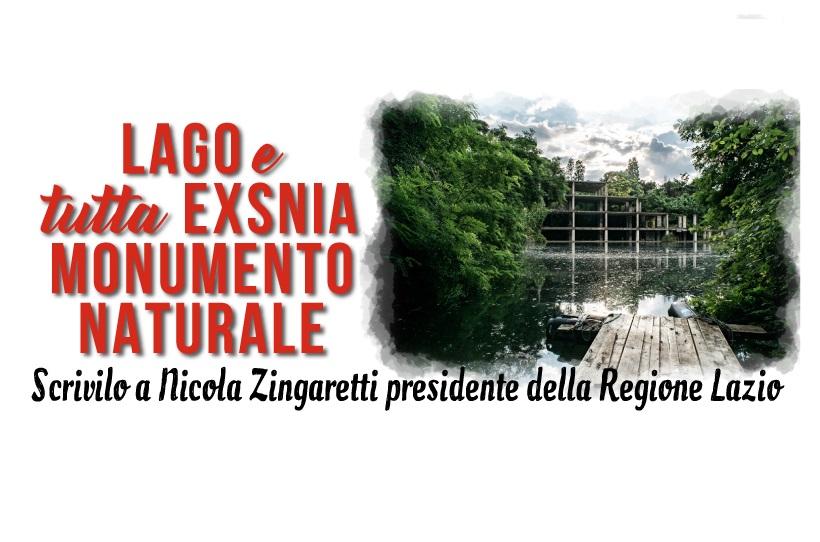 """Petizione  a Zingaretti: """"Il Lago ex-Snia venga inserito tra le acque demaniali!"""""""