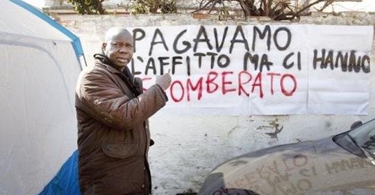[Roma] Ingiusto sgombero comunità senegalese di via Fanfulla