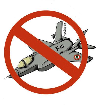 """F-35: """"Governo e Parlamento non spendano 10 miliardi per nuovi caccia da guerra"""""""