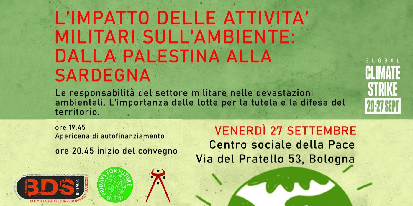 L'impatto delle attività militari sull'ambiente – Bologna, 27 settembre