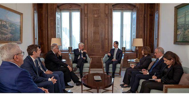 Assad incontra parlamentari italiani