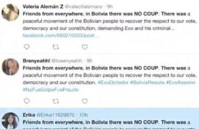Creati oltre 68 mila Account Fake su Twitter a sostegno del golpe in Bolivia