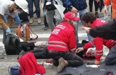 Colombia, giovane gravemente ferito alla testa da lacromogeno