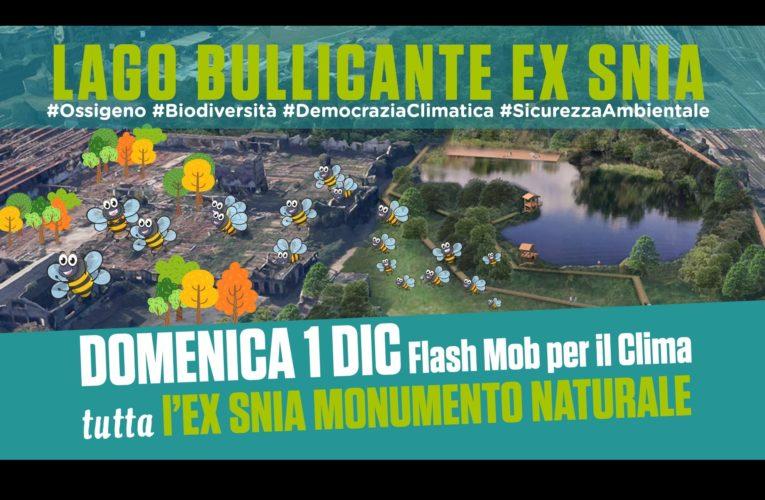 Roma, azione di comunicazione il 1° dicembre al Lago exSnia