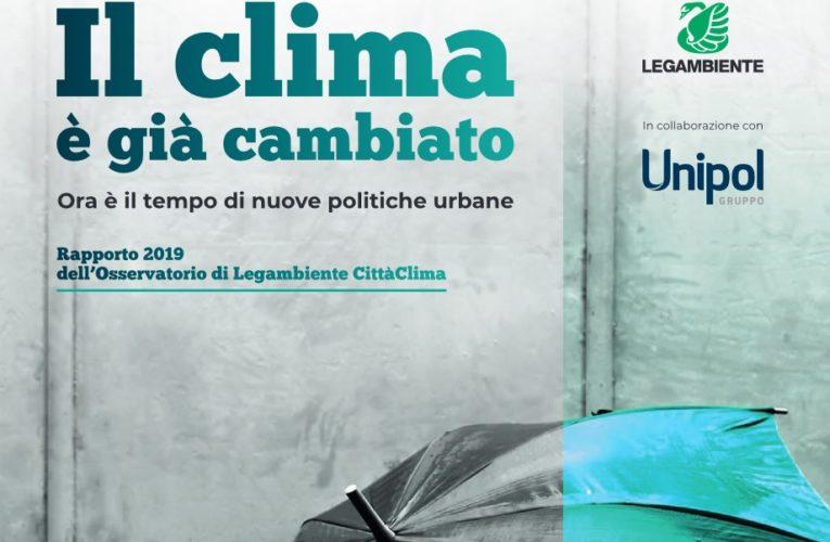 """Legambiente ha presentato il dossier """"Città Clima 2019"""