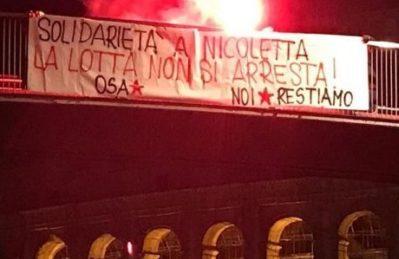 Proteste in tutta Italia per l'arresto di Nicoletta Dosio. A Roma oggi alle 16:00