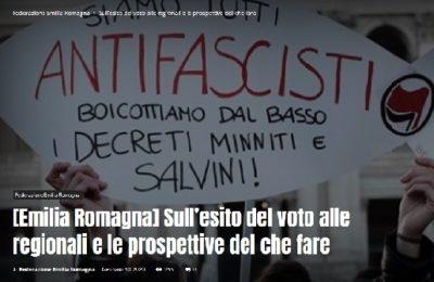 Newsletter 03.2020 – Sull'esito delle elezioni in Emilia Romagna