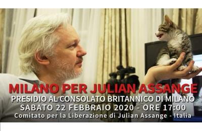 Milano per Assange, sabato 22 febbraio alle ore 17:00