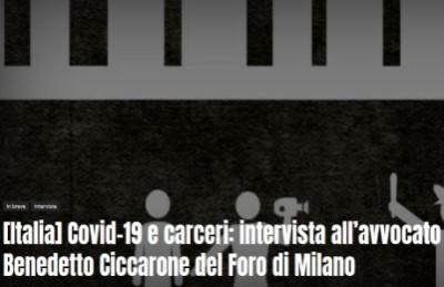 Covid-19 e carceri: intervista all'avvocato Benedetto Ciccarone del Foro di Milano
