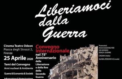 """Comunicato organizzatori del convegno """"Liberiamoci dalla guerra"""" del 25 aprile"""