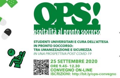 """Convegno """"OPS! studenti universitari e cura dell'attesa in pronto soccorso"""""""