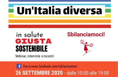 """""""Un'Italia diversa: in salute, giusta, sostenibile"""""""