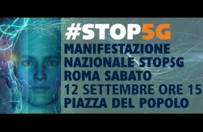 Stop5G, manifestazione a Roma il 12 settembre