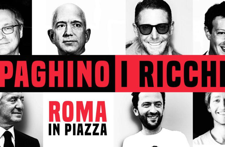 """""""Paghino i ricchi"""", manifestazione a Roma sabato 14 novembre"""