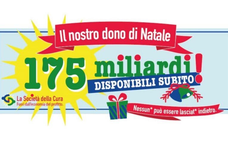 """La Società della Cura """"dona"""" 175 miliardi a Governo e Enti Locali"""