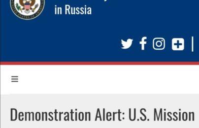 Navalny, l'ambasciata Usa a Mosca ci tiene a precisare chi ha organizzato le proteste